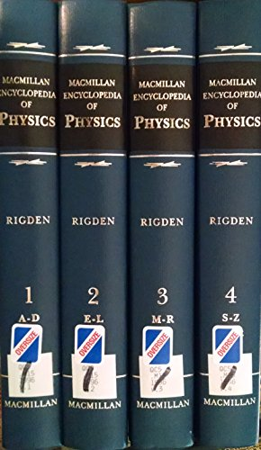 9780028973593: Macmillan Encyclopedia of Physics (4 Volume Set)