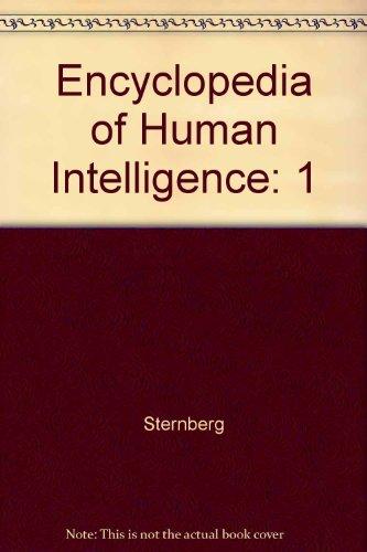 9780028974217: Encyclopedia of Human Intelligence: 1 (Encyclopedia of Human Intelligence)