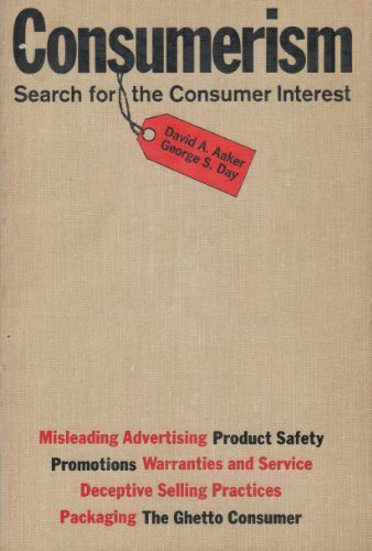 9780029000809: Consumerism: Search for the Consumer Interest