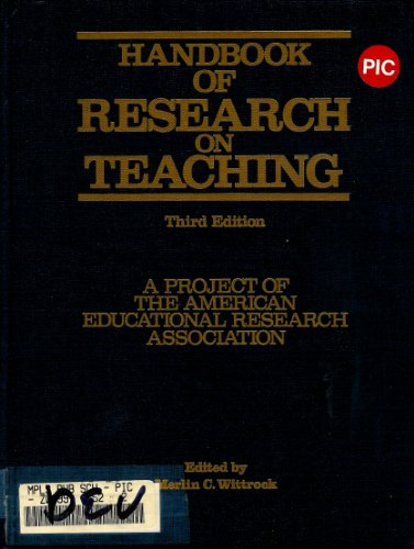 9780029003107: Handbook of Research on Teaching (Macmillan research on education handbook series)