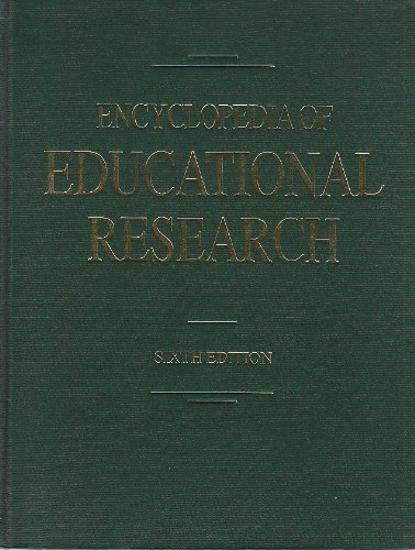 9780029004319: Encyclopedia of Educational Research (Set of 4 Volumes)