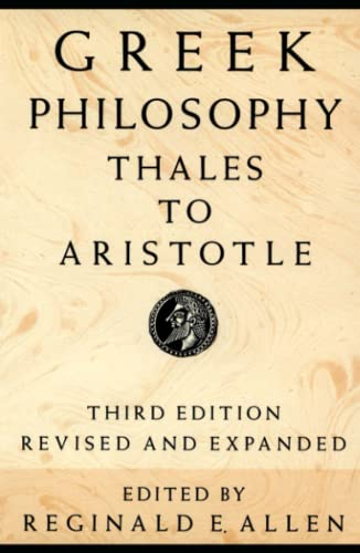 9780029004951: Greek Philosophy: Thales to Aristotle (Readings in the History of Philosophy)