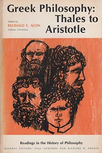 9780029005002: GREEK PHILOSOPHY: THALES TO ARISTOTLE