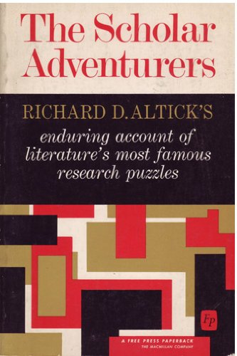 Scholar Adventures: Richard D. Altick