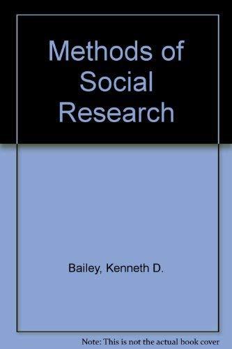 9780029012505: Methods of Social Research