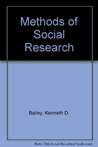 9780029012505: Methods of Social Research