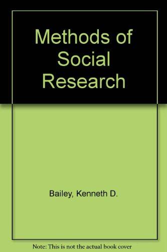 9780029012802: Methods of Social Research