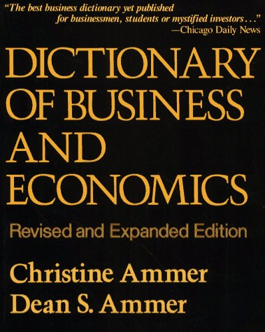 9780029014806: Dictionary of Business and Economics, Rev. Ed.