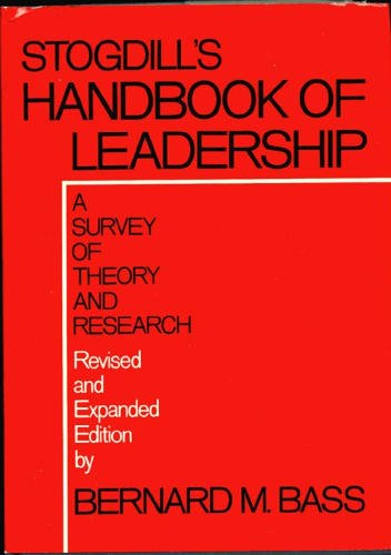 9780029018200: Handbook of Leadership: A Survey of Theory and Research