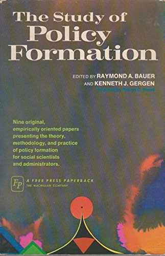 9780029019306: Study of Policy Formation