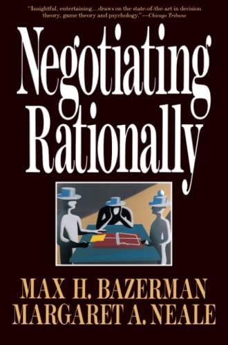 9780029019863: Negotiating Rationally