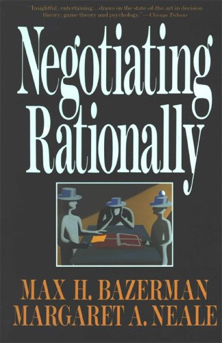 9780029019863: Negotiating Rationally