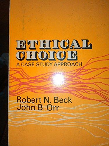 9780029020708: Ethical Choice