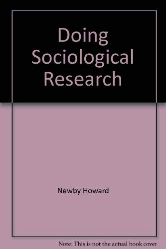 9780029023501: Doing sociological research
