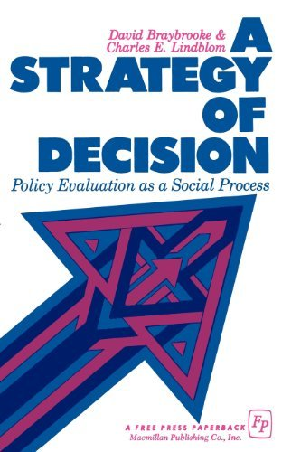 9780029046005: A Strategy of Decision: Policy Evaluation as a Social Process[ A STRATEGY OF DECISION: POLICY EVALUATION AS A SOCIAL PROCESS ] By Braybrooke, David ( Author )Jun-19-1970 Paperback
