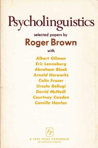 9780029048405: Psycholinguistics: Selected Papers by Roger Brown