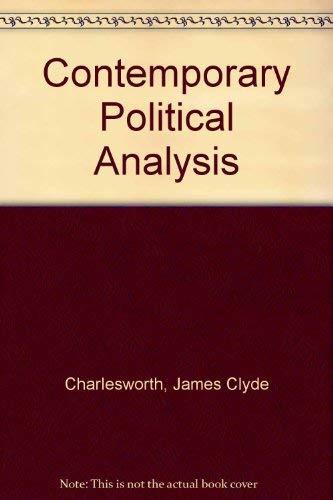 9780029054604: Contemporary Political Analysis