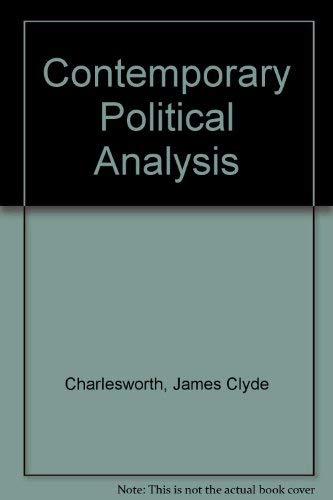 9780029054703: Contemporary Political Analysis
