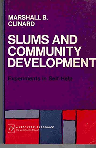 9780029055809: Slums and Community Development: Experiments in Self Help
