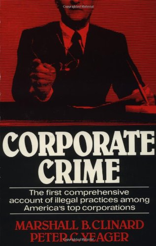 9780029058800: Corporate Crime (Law and Society Series)