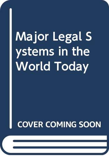 9780029075906: Major Legal Systems in the World Today