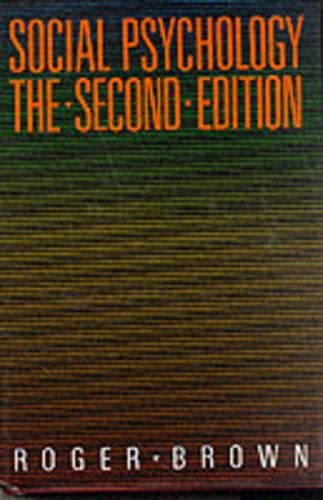 9780029083000: Social Psychology, 2nd Ed