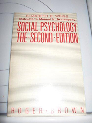 9780029083109: Social Psychology 2nd E Im