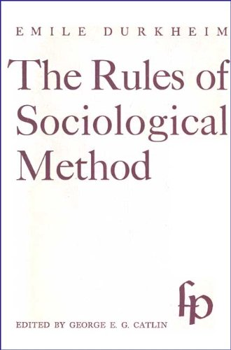 9780029084908: The Rules of Sociological Method