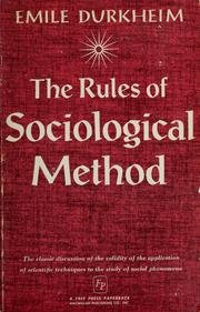 9780029085004: Rules of Sociological Method