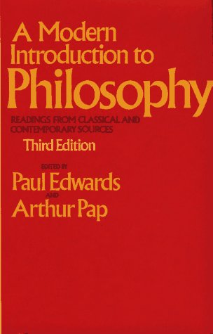 9780029092002: A Modern Introduction to Philosophy (The Free Press textbooks in philosophy)