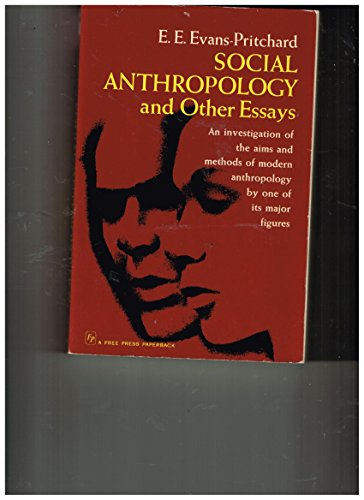 9780029098707: Social Anthropology and Other Essays