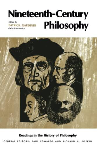 9780029112205: Nineteenth-Century Philosophy (Readings in History of Philososphy)