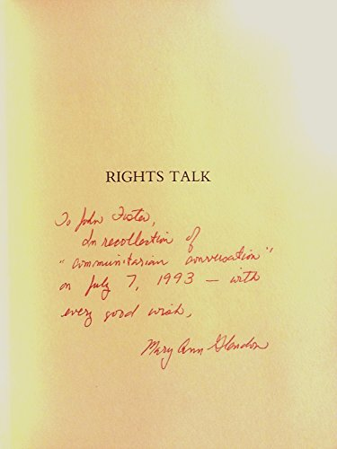 9780029118252: Rights Talk: The Impoverishment of Political Discourse