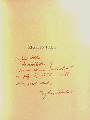 9780029118252: Rights Talk: The Impoverishment of Political Discourse