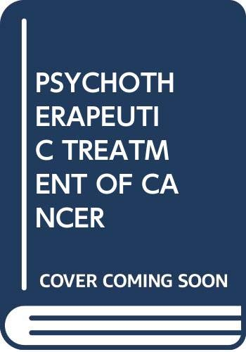 9780029119600: Psychotherapeutic Treatment of Cancer Patients