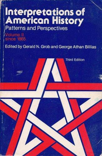 9780029127209: Interpretations of American History (Interpretations of American History; Patterns and Perspectives)