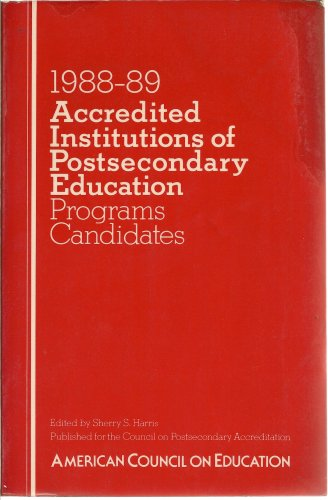 9780029139806: Accredited Institutions of Postsecondary Education, 1988-89 (Programs/Candidates)