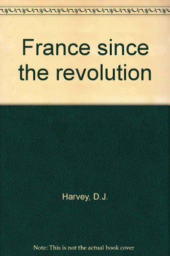 9780029141205: France Since the Revolution