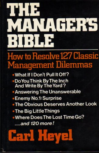 9780029146804: The Manager's Bible