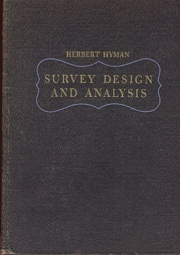 Survey Design and Analysis Principles, Cases, and Prodecures