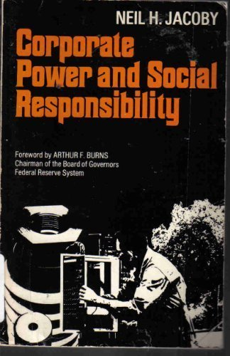 9780029159507: CORPORATE POWER AND SOCIAL RESPONSIBILITY
