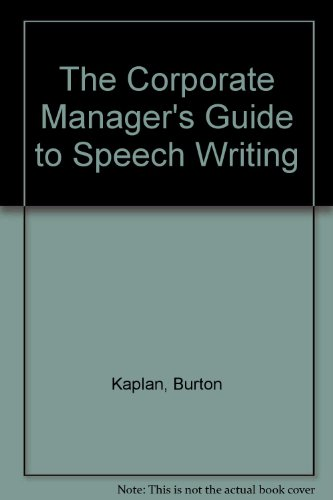 9780029169513: Manager's Complete Guide to Speech Writing