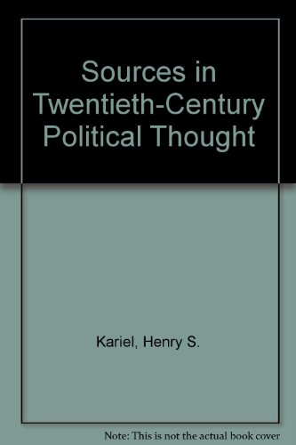 9780029170205: Sources in Twentieth Century Political Thought