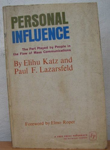 9780029171509: Personal Influence