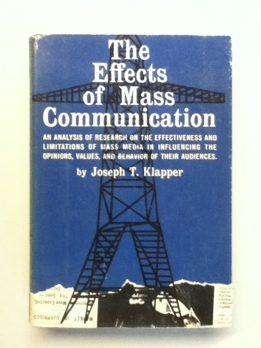 9780029173800: Effects of Mass Communication