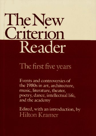 9780029176412: The New Criterion Reader: The First Five Years