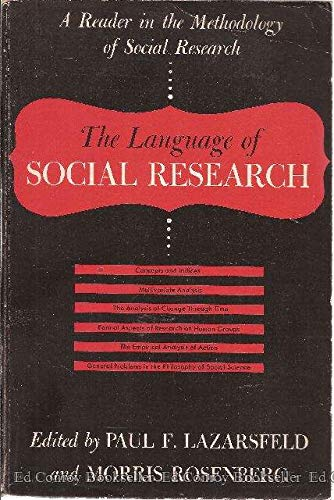 9780029182703: Language of Social Research