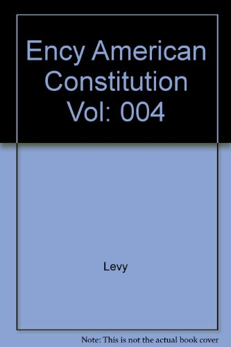 9780029186503: Encyclopedia of the American Constitution