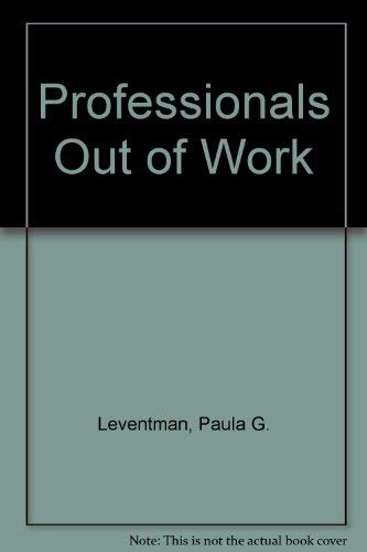 9780029188002: Professionals Out of Work