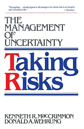 9780029195635: Taking Risks